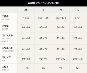 womens size